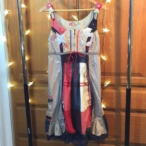 Desigual Plaid Country Dress With Pockets Chula